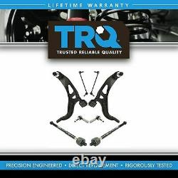 TRQ 8 Steering Suspension Kit Control Arms Ball Joints Tie Rods Sway Bar Links