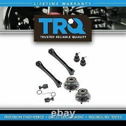 TRQ 8 pc Steering & Suspension Kit Wheel Hub & Bearings Ball Joints Control Arms