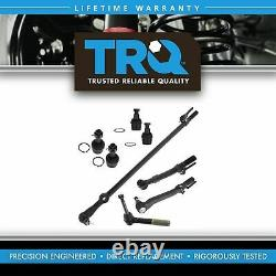 TRQ 8pc Kit Tie Rod End Drag Link Ball Joint LH RH Set for 05-07 Super Duty 4WD