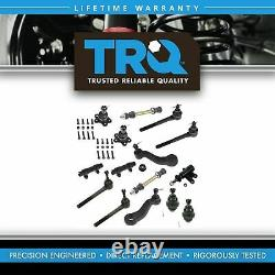 TRQ Ball Joint Tie Rod Sway Bar Link Idler Pitman Suspension Steering Kit 15pc
