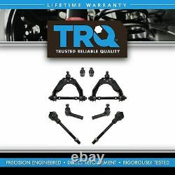 TRQ Control Arm Ball Joint Tie Rod End Steering Suspension Kit Set 8pc for 4WD
