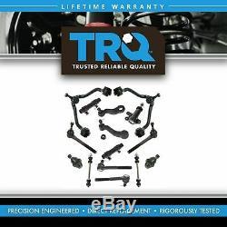 TRQ Control Arm Ball Joint Tie Rod Idler Pitman Steering Suspension Kit Set 15pc