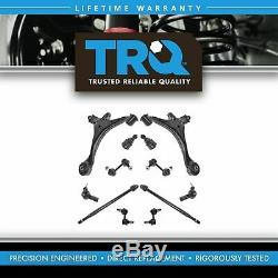 TRQ For 01 02 03 04 05 Civic Control Arm Ball Joint 12pc Steering Suspension Kit