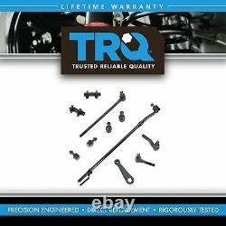 TRQ Front 11 Piece Steering & Suspension Kit Tie Rods Ball Joints Pitman Arm