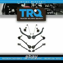 TRQ Front Control Arm Tie Rod Ball Joint Sway Link Steering Suspension Kit 10pc