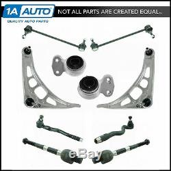 TRQ Front Lower Control Arms Tie Rod Ends Sway Bar Links Suspension Kit for E46