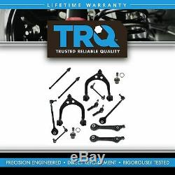TRQ Front Lower Upper Control Arms Ball Joint Sway Bar Link Tie Rod Ends Kit Set
