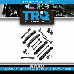 TRQ Front Steering Suspension Kit Ball Joint Control Arms Drag Link Tie Rods