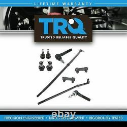 TRQ Front SuspensionSet Tie Rod Ends Drag Link Ball Joints for Ram Truck 4WD