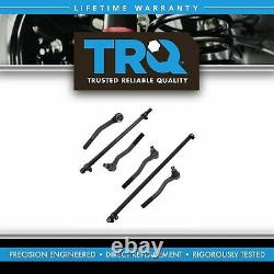 TRQ Front Tie Rod Drag Link Sleeve Steering Set of 6 for Jeep Grand Cherokee