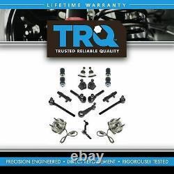 TRQ Steering Suspension Kit Ball Joint idler Pitman Arm Tie Rod Adjusting Sleeve